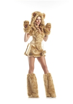 Golden Bear Womens Costume