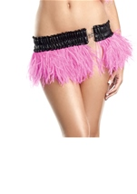 Hot Pink Ostrich Feather Skirt Womens Costume