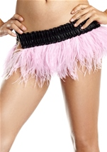 Candy Pink Ostrich Feather Skirt Womens Costume