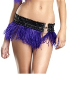 Purple Ostrich Feather Skirt Womens Costume