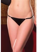 Thong Panty With Ribbon Black