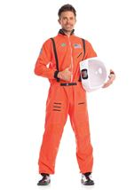 Men Astronaut Orange Costume