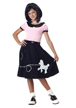 50s Hop With Poodle Skirt Girl Costume