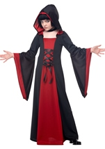 Red Hooded Robe Girls Costume