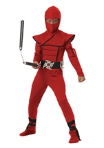 Stealth Ninja Red Boys Costume