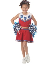 Patriotic Cheerleader Girls Costume