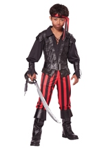 Briny Buccaneer Pirate  Boys Costume