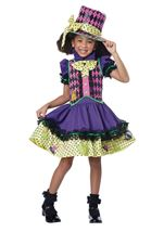 Mad Hatter Deluxe Girls Costume