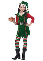 Festive Elf Girls Costume