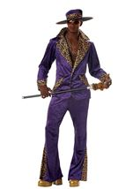 Pimp Men 80s Costume Purple