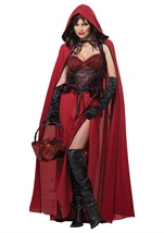 Adult Dark Red Riding Hood Woman Vampire Costume