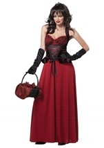 Dark Red Riding Hood Woman Vampire Halloween Costume