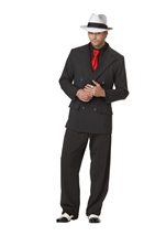 Men Gangster Mob Boss Costume