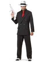Men Gangster Mob Boss Halloween Costume
