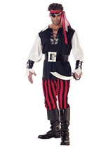 Cut throat Pirate Men Costume