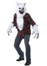 Adult White Lycan Men Wolf Deluxe Costume