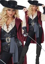 Adult Lady Musketeer Woman Costume