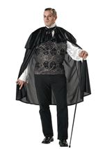 Victorian Vampire Men Plus Size Costume
