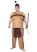 Native American Brave Men Plus Size Costume