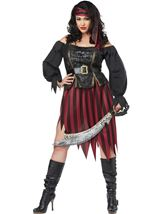 Queen Of High Seas Pirate Woman Plus Costume