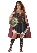 Glorious Gladiator Woman Plus Costume