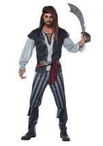 Scallywag Pirate Men Plus Costume
