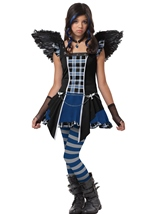 Raven Angel Girls Tween Costume