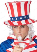 Uncle Sam Wig And Chin Patch Adult