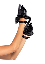 Cropped Satin Ruffle Glove