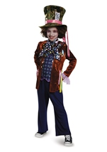 Mad Hatter Deluxe Boys Alice Looking Through Glass Costume