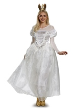 Disney Licensed Alice in Wonderland White Queen Woman Deluxe Costume
