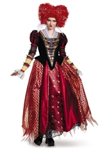 Red Queen Disney Alice Wonderland Licensed Woman Deluxe Costume