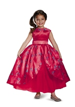 Kids Licensed Elena Of Avalor Disney Deluxe Princess Coronation Long Gown Costume
