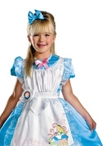 Disney Licensed Girls Alice Deluxe Costume