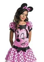 Disney Licensed Minnie Mouse Girls Costume Dress Headband