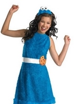 Cookie Monster Sesame Girls Costume