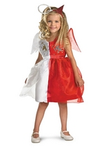 Kids Devilish Angel Girl Costume