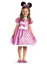 Disney Pink Minnie Mouse Classic Girls Costume