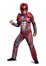 Red Power Ranger Muscle Boys Costume