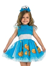 Cookie Monster Frilly Girls Costume