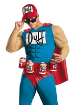 Simpsons Duffman Muscle Men Costume