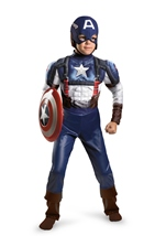 Marvel Captain America 2 Retro Classic Muscle Boys Costume