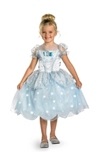 Cinderella Light Up Deluxe Girls Costume