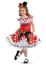 Disney Red Minnie Prestige Girl Costume