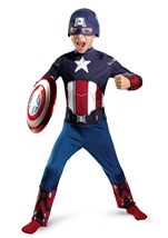 Boys Captain America Avengers Movie Classic Costume