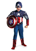 Boys Captain America Avengers Muscle Costume
