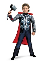 Boys Muscle Thor Avenger Movie Costume