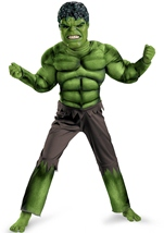 The Avengers Hulk Deluxe Muscle Chest Boys Costume