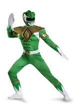 Green Power Ranger Muscle Men Halloween Costume