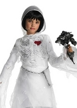 Kids Skeleton Bride  Costume